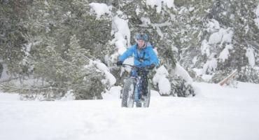 Fat-bike à l'Espace Nordique du Capcir